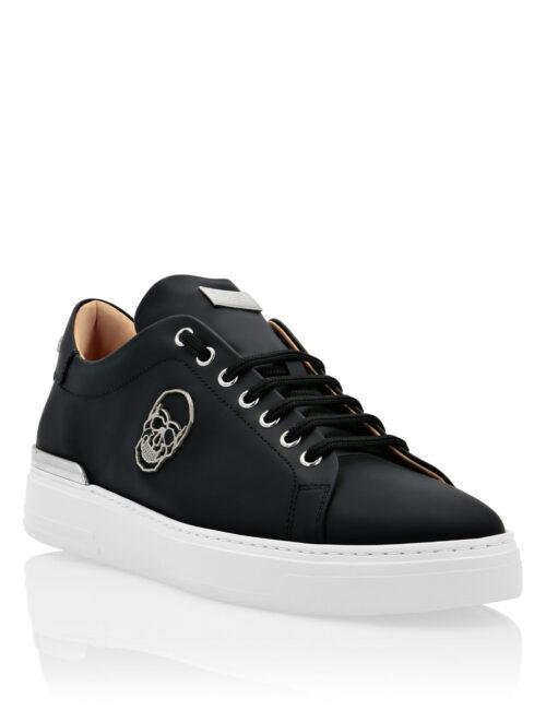 Philipp Plein Leather Sneakers The $kull Zwart