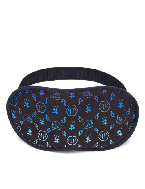 Philipp Plein Sleep Mask Monogram Donker Blauw