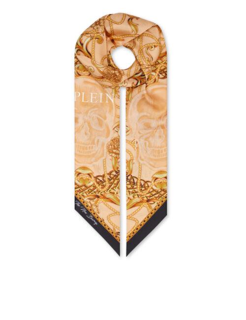 Philipp Plein Silk Maxi Twilly New Baroque Beige