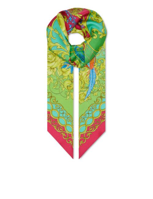 Philipp Plein Silk Maxi Twilly New Baroque Multicolor