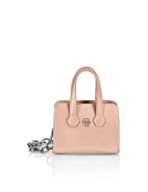 Philipp Plein Satin Handle Bag Iconic Beige