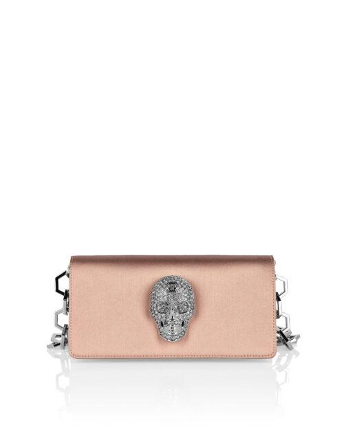 Philipp Plein Satin Shoulder Bag Iconic Beige