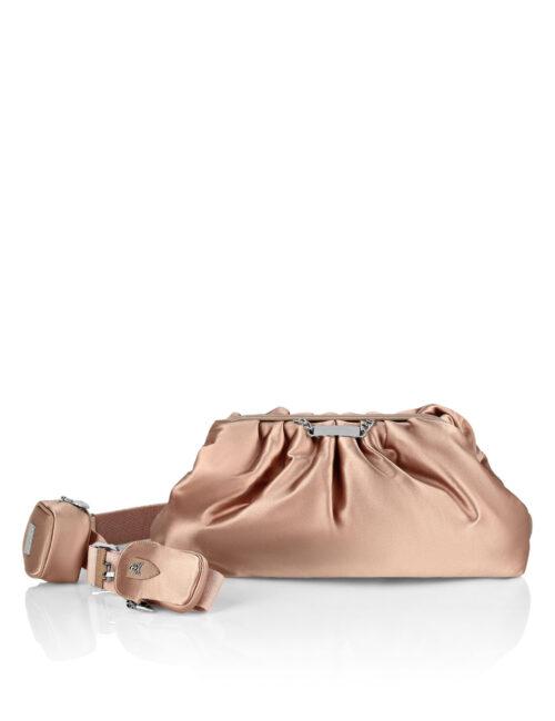 Philipp Plein Nylon Maxi Shoulder Bag Iconic Beige
