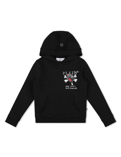 Philipp Plein Hoodie Sweatshirt Zwart