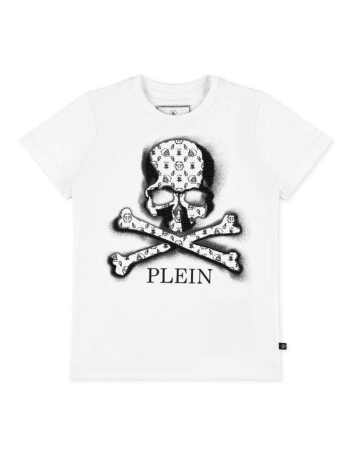 Philipp Plein T-Shirt Round Neck Monogram Wit