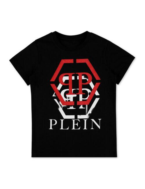 Philipp Plein T-Shirt Round Neck Monogram Zwart