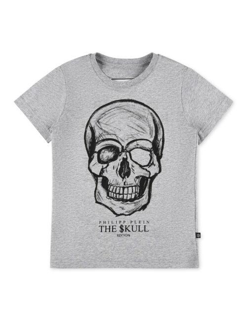 Philipp Plein T-Shirt Round Neck Monogram Grijs