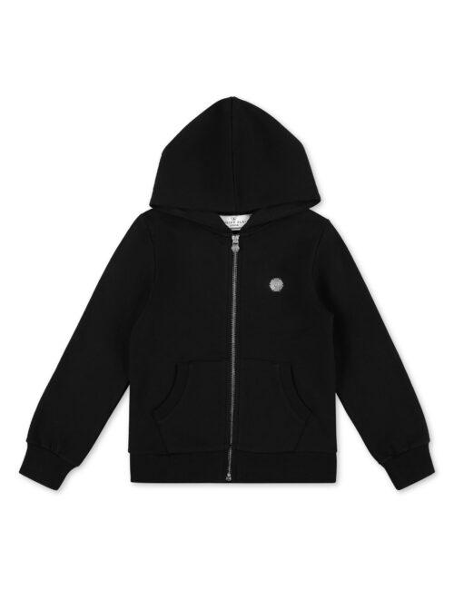 Philipp Plein Hoodie Sweatjacket Teddy Bear Zwart/Wit