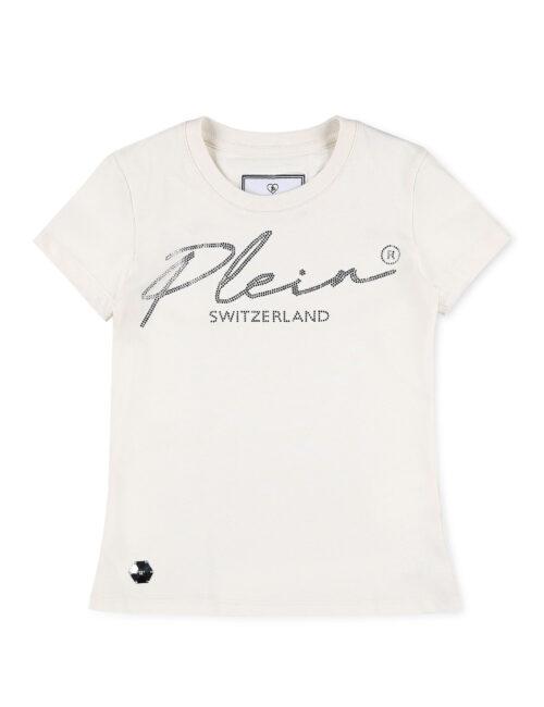 Philipp Plein T-Shirt Round Neck Monogram Cream