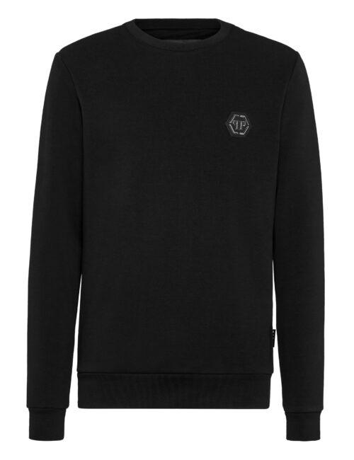 Philipp Plein Sweatshirt LS Istitutional Zwart