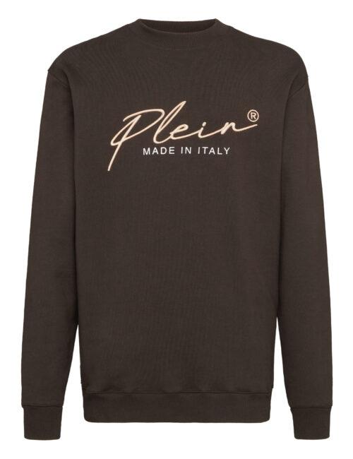Philipp Plein Sweatshirt Signature Donker Bruin