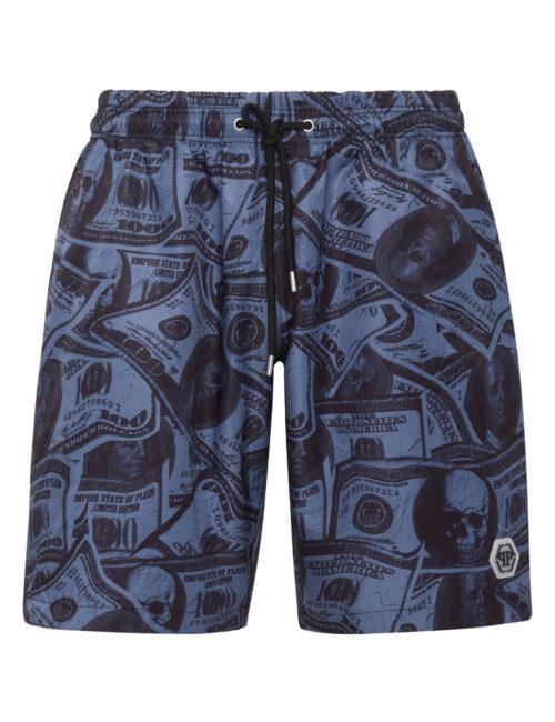 Philipp Plein Beachwear Long Trousers Dollar Navy