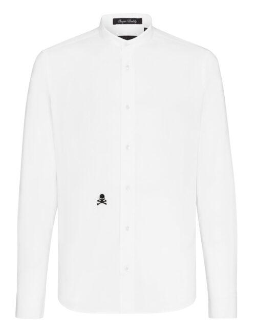 Philipp Plein Shirt Sugar Daddy Embroidery Skull Wit