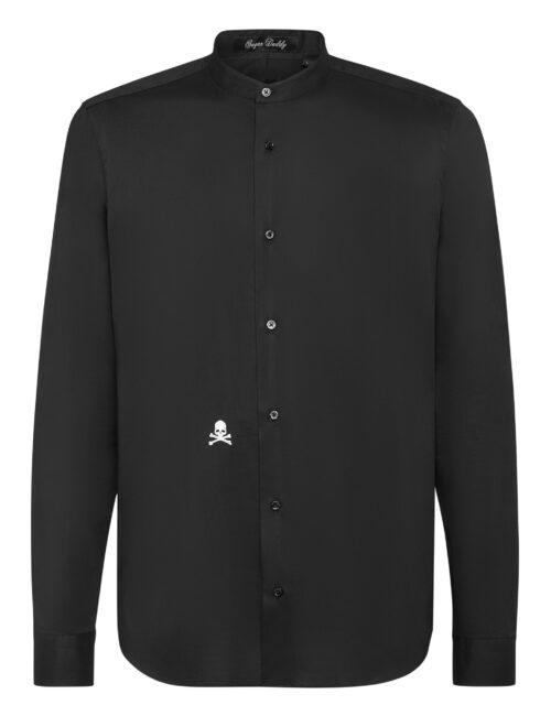 Philipp Plein Shirt Sugar Daddy Embroidery Skull Zwart