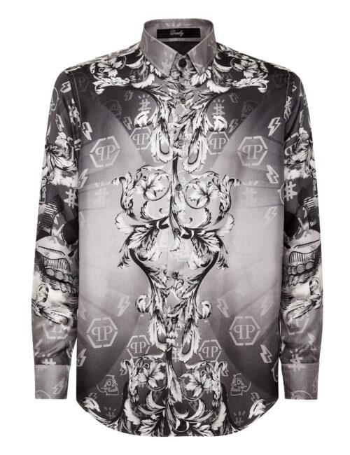 Philipp Plein Silk Shirt Dandy New Baroque Zwart