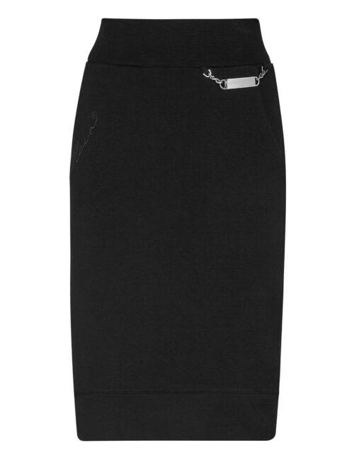 Philipp Plein Leisurewear Skirt Embroidery Zwart