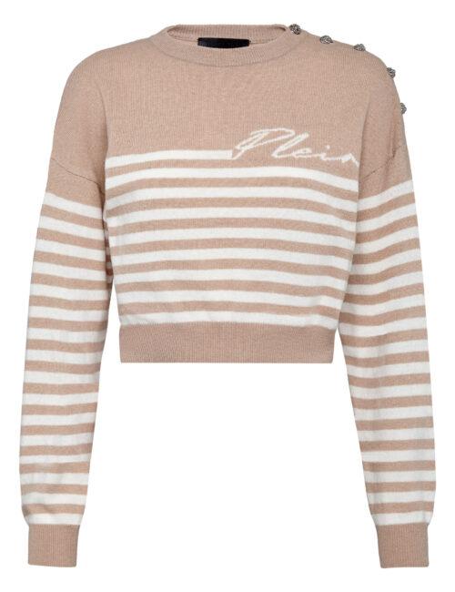 Philipp Plein Mariner Cashmere Pullover Beige/Cream
