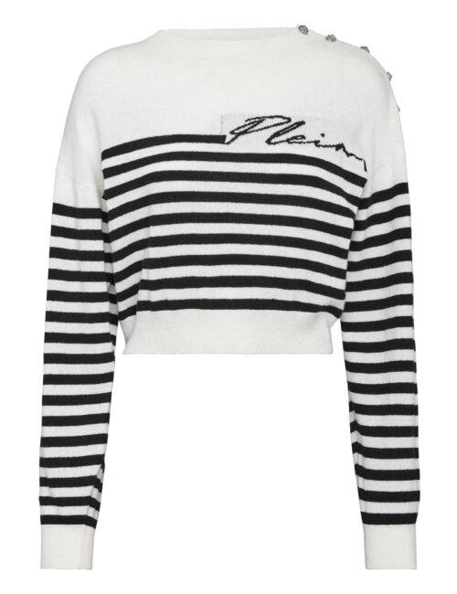 Philipp Plein Mariner Cashmere Pullover Cream/Zwart