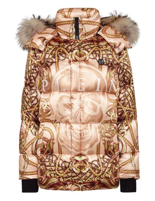 Philipp Plein Nylon Jacket New Baroque Beige