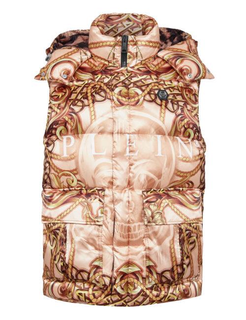 Philipp Plein Nylon Short Vest New Baroque Beige