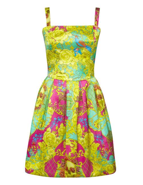 Philipp Plein Short Dress New Baroque Multicolor