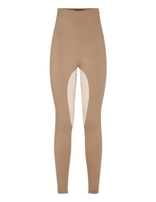 Philipp Plein Cady Super High Waist Leggings Beige