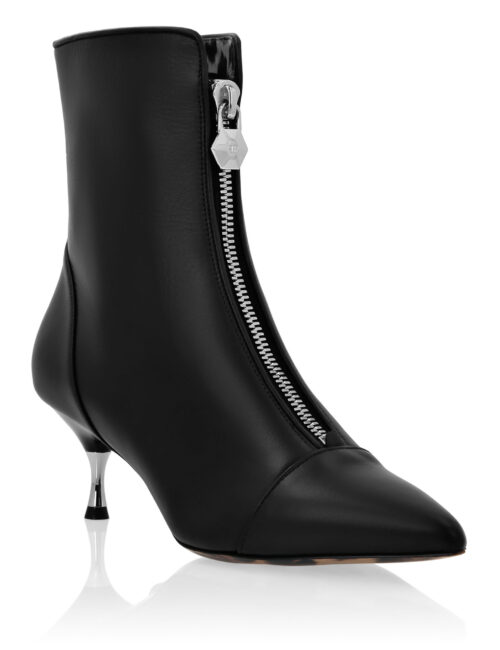 Philipp Plein Leather Boots Lo-Heels Low Rock Zwart