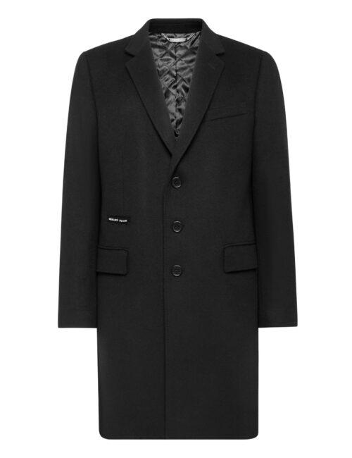 Philipp Plein Cashmere 10 Sartorial Coat Zwart