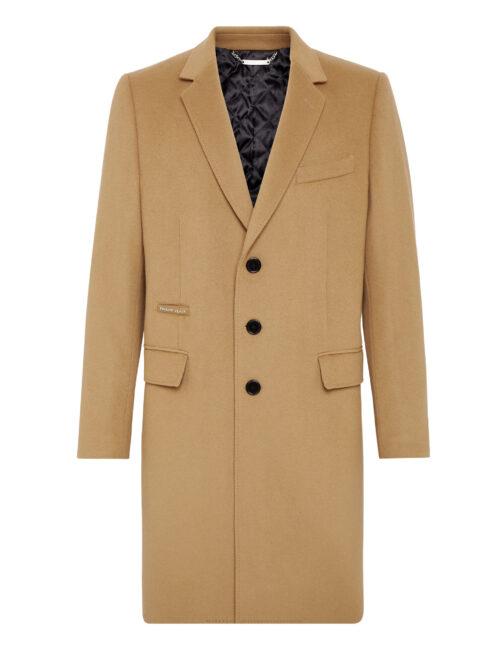 Philipp Plein Cashmere 10 Sartorial Coat Beige