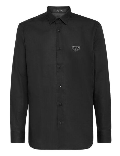 Philipp Plein Shirt Playboy Fit Iconic Zwart