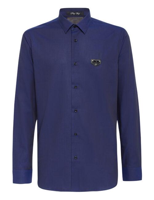 Philipp Plein Shirt Playboy Fit Iconic Donker Blauw