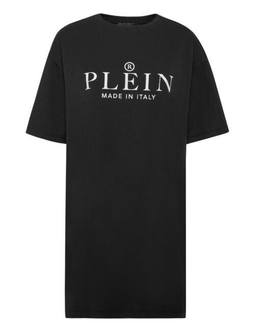Philipp Plein T-Shirt Dress Iconic Zwart