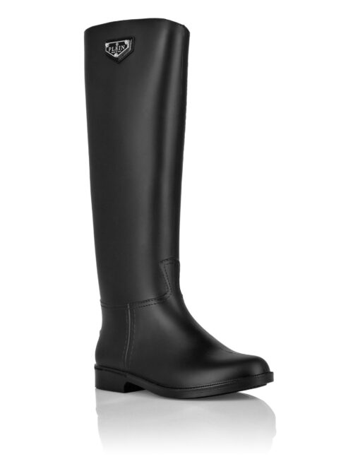 Philipp Plein Rain Boots Iconic Plein Zwart