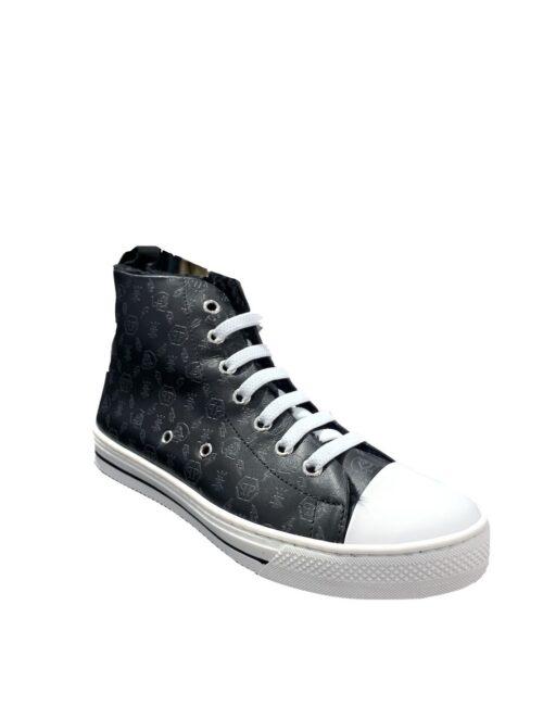 Philipp Plein Hi-Top Sneakers Megastar Zwart/Zwart