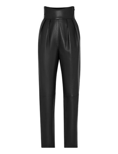Philipp Plein Lambskin Trousers Iconic Plein Zwart
