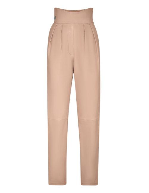 Philipp Plein Lambskin Trousers Iconic Plein Beige