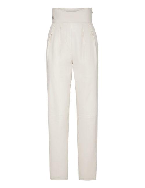 Philipp Plein Lambskin Trousers Iconic Plein Cream