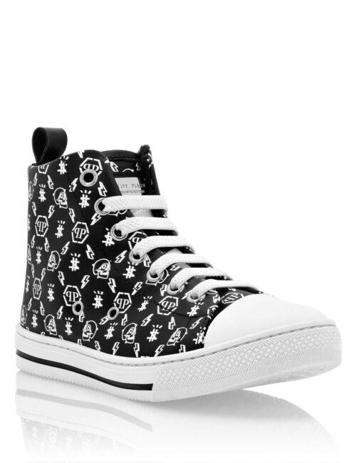 Philipp Plein Hi-Top Sneakers Megastar Zwart/Wit