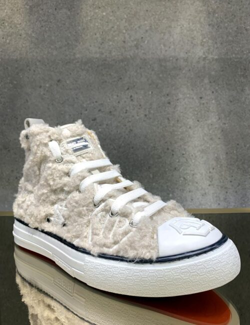 Philipp Plein Hi-Top Sneakers Embroidery Monogram Wit