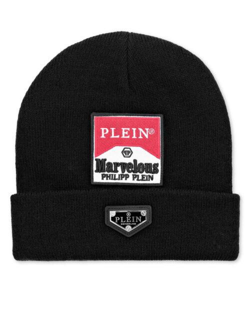 Philipp Plein Wool Hat Marvelous Zwart