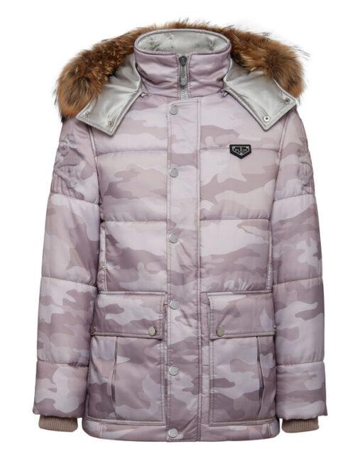 Philipp Plein Nylon Jacket Camouflage Luxury Beige