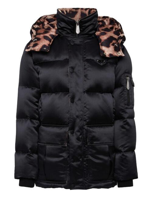 Philipp Plein Nylon Satin Jacket Iconic Zwart