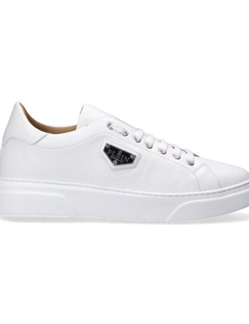 Philipp Plein Leather Lo-Top Sneakers Iconic Wit