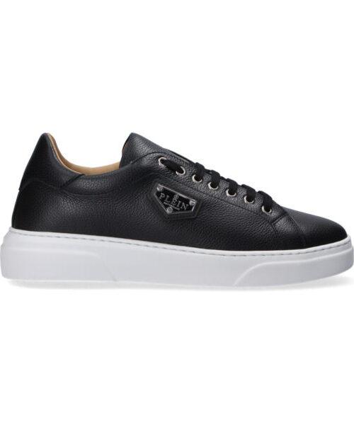 Philipp Plein Leather Lo-Top Sneakers Iconic Zwart/Wit