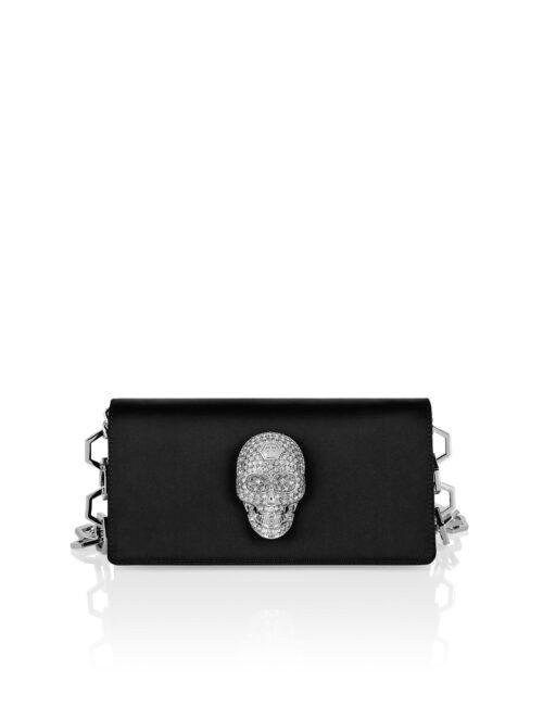 Philipp Plein Satin Shoulder Bag Iconic Zwart