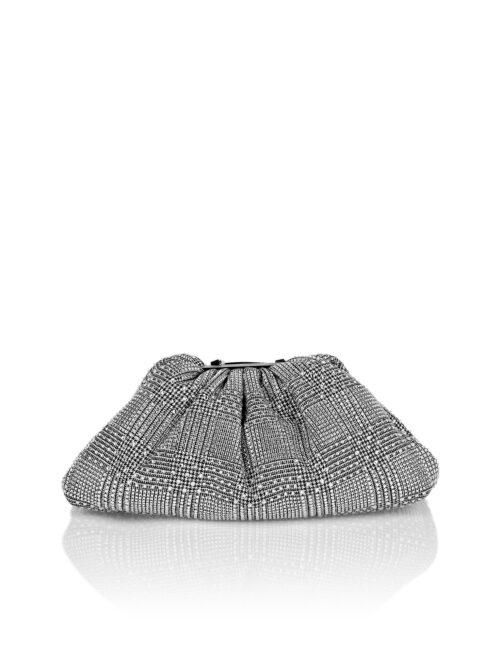 Philipp Plein Mini Pillow bag Pied de poule Crystal