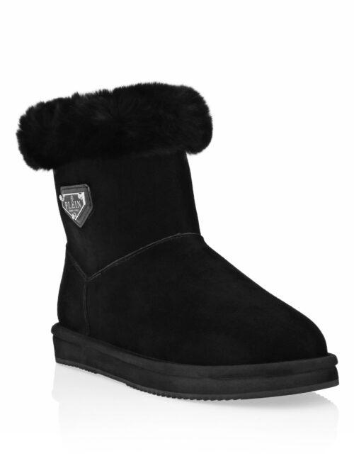 Philipp Plein Boots Low Flat Iconic Zwart