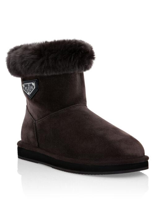Philipp Plein Boots Low Flat Iconic Bruin
