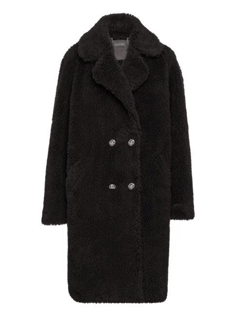 Philipp Plein Coat Long Iconic Zwart