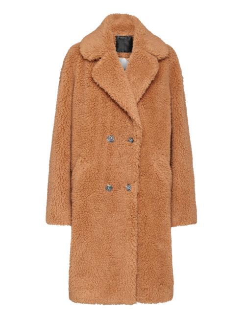 Philipp Plein Coat Long Iconic Beige
